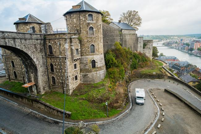 Photo de la Citadelle de Namur en camping-car par Péripléties